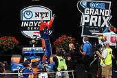 #9: Scott Dixon, Chip Ganassi Racing Honda celebrates in victory lane