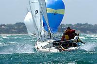 Crackerjack (J24)<br /> Sailing - Sail Melbourne International Regatta<br /> Sandringham YC/ Victoria  Australia<br /> January 18th, 2006<br /> © Sport the library/Jeff Crow