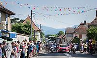 neutral start roll-out in Aoste<br /> <br /> stage 7: Aoste > Alpe d'Huez (168km)<br /> 69th Critérium du Dauphiné 2017
