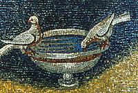 Ravenna: Mosaic--Doves. Mausoleum of Galla Placidia, 5th century.