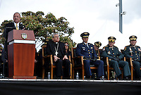 BOGOTA - COLOMBIA - 19 -07 - 2016: Luis Carlos Villegas, Ministro de Defensa Nacional, y la Cúpula Militar presidieron la ceremonia en el Dia de los Heroes Caidos y sus Familias, de las Las Fuerzas Militares y de la Policia, de Colombia, hombres y mujeres que han entregado su vida en defensa del país, la paz y la libertad de los colombianos /  Luis Carlos Villegas, Minister of National Defence and the Military Leadership presided the ceremony at the Memorial Day Heroes and Their Families of the Military Forces and Police of Colombia, men and women who have given their lives in defense country, peace and freedom of Colombians / PhotoS: VizzorImage / Luis Ramirez / Staff.