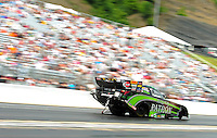 Jun. 16, 2012; Bristol, TN, USA: NHRA funny car driver Alexis DeJoria during qualifying for the Thunder Valley Nationals at Bristol Dragway. Mandatory Credit: Mark J. Rebilas-