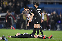 dejection - 06 MARCO VERRATTI (PSG) - 09 EDINSON CAVANI (PSG) - FAIR PLAY<br /> Parigi 6-03-2019 <br /> Paris Saint Germain - Manchester United <br /> Champions League 2018/2019<br /> Foto Anthony Bibard / Panoramic / Insidefoto