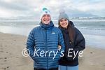 Eoghan Galvin and Cara Kelly enjoying a stroll in Banna beach on Sunday