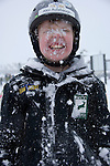boy with snow on face, winter fun at Copper Mountain Ski Resort, Copper Mountain, Colorado, USA, (MR), model released, #94