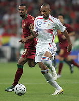 French forward (12) Thierry Henry sprints upfield.  France defeated Portugal, 1-0, in their FIFA World Cup semifinal match at FIFA World Cup Stadium in Munich, Germany, July 5, 2006.