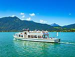 Deutschland, Bayern, Oberbayern, Tegernseer Tal, Tegernsee: Seerundfahrt | Germany, Bavaria, Upper Bavaria, Tegernseer Valley, Tegernsee at Lake Tegern: sightseeing boat trip