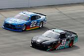 #99: Stefan Parsons, B.J. McLeod Motorsports, Toyota Supra Rich Mar Florist, #22: Austin Cindric, Team Penske, Ford Mustang PPG