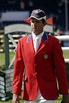 August 07, 2009: Charlie Jayne of the US Equestrian Team. Meydan FEI Nations Cup. Failte Ireland Horse Show. The RDS, Dublin, Ireland.
