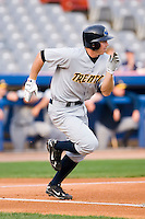 Colin Curtis (24) of the Trenton Thunder hustles down the first base line versus the Connecticut Defenders at Dodd Stadium in Norwich, CT, Tuesday, June 3, 2008.