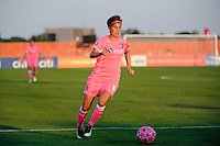 Angie Kerr (6) of Sky Blue FC. The Western New York Flash defeated Sky Blue FC 2-0 during a Women's Professional Soccer (WPS) match at Yurcak Field in Piscataway, NJ, on July 17, 2011.
