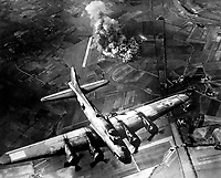 """""""The first big raid by the 8th Air Force was on a Focke Wulf plant at Marienburg.  Coming back, the Germans were up in full force and we lost at least 80 ships - 800 men, many of them pals.""""  1943. Army Air Forces.  (OWI)<br /> Exact Date Shot Unknown<br /> NARA FILE #:  208-YE-7<br /> WAR & CONFLICT BOOK #:  1087"""