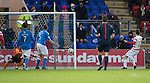 St Johnstone v Hamilton Accies...04.01.15   SPFL<br /> Tony Andreu scores his goal<br /> Picture by Graeme Hart.<br /> Copyright Perthshire Picture Agency<br /> Tel: 01738 623350  Mobile: 07990 594431