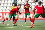 Mannheim, Germany, September 12: During the 1. Bundesliga men fieldhockey match between Mannheimer HC and Hamburger Polo Club on September 12, 2020 at Am Neckarkanal in Mannheim, Germany. Final score 2-0. (Copyright Dirk Markgraf / www.265-images.com) *** Leon Thoernblom #24 of Hamburger Polo Club
