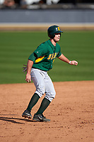 Siena Saints first baseman Nick Duarte (33) leads off second base during a game against the UCF Knights on February 21, 2016 at Jay Bergman Field in Orlando, Florida.  UCF defeated Siena 11-2.  (Mike Janes/Four Seam Images)