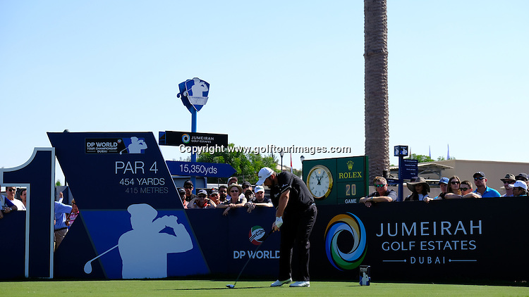 Shane LOWRY (IRL) during round two of the 2016 DP World Tour Championships played over the Earth Course at Jumeirah Golf Estates, Dubai, UAE: Picture Stuart Adams, www.golftourimages.com: 11/18/16