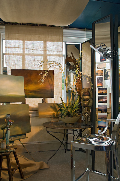 Contemporary Furnishings in an Artist's Studio