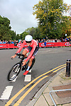 Matthias Brandle (AUT) in action during the Men Elite Individual Time Trial of the UCI World Championships 2019 running 54km from Northallerton to Harrogate, England. 25th September 2019.<br /> Picture: Andy Brady | Cyclefile<br /> <br /> All photos usage must carry mandatory copyright credit (© Cyclefile | Andy Brady)