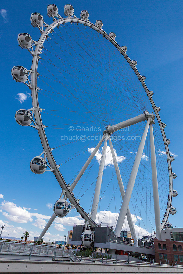 Las Vegas, Nevada.  High Roller, as of 2015 the World's Tallest Observation Wheel..
