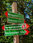 Deutschland, Bayern, Niederbayern, Naturpark Bayerischer Wald, Bodenmais: Hoehenluftkurort ind Wintersportort am Fuss des Arber, gut ausgeschilderte Wanderwege laden zum Wandern ein | Germany, Bavaria, Lower-Bavaria, Nature Park Bavarian Forest, Bodenmais: popular holiday resort, well signposted hiking trails
