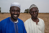 Two Farmers, Brothers of the Serer Ethnic Group, near Kaolack, Senegal. DOZENS MORE OF IMAGES RELATED TO MILLET CULTIVATION ARE AVAILABLE.  WHAT DO YOU NEED?