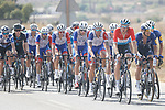 Groupama-FDJ and Deceuninck-Quick Step on the front of the peloton during Stage 8 of La Vuelta d'Espana 2021, running 173.7km from Santa Pola to La Manga del Mar Menor, Spain. 21st August 2021.     <br /> Picture: Luis Angel Gomez/Photogomezsport | Cyclefile<br /> <br /> All photos usage must carry mandatory copyright credit (© Cyclefile | Luis Angel Gomez/Photogomezsport)