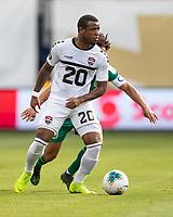 KANSAS CITY, KS - JUNE 26: Jomal Williams #20 during a game between Guyana and Trinidad