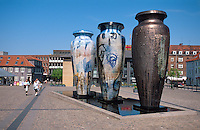 Daenemark, Seeland, Brunnen in in Roskilde bei Kopenhagen