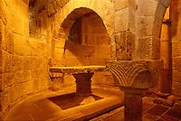 Kloster Leyre, Krypta, Navarra, Spanien