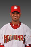 14 March 2008: ..Portrait of Beltran Perez, Washington Nationals Minor League player at Spring Training Camp 2008..Mandatory Photo Credit: Ed Wolfstein Photo