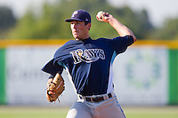 Starting pitcher Jacob Partridge #30 of the Princeton Rays in action against the Burlington Royals at Burlington Athletic Stadium July 11, 2010, in Burlington, North Carolina.  Photo by Brian Westerholt / Four Seam Images