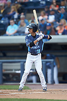 Cole Peterson (19) of the West Michigan Whitecaps at bat against the South Bend Cubs at Fifth Third Ballpark on June 10, 2018 in Comstock Park, Michigan. The Cubs defeated the Whitecaps 5-4.  (Brian Westerholt/Four Seam Images)