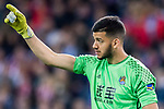 Goalkeeper Geronimo Rulli of Real Sociedad gestures during their La Liga match between Atletico de Madrid vs Real Sociedad at the Vicente Calderon Stadium on 04 April 2017 in Madrid, Spain. Photo by Diego Gonzalez Souto / Power Sport Images