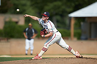High Point-Thomasville HiToms starting pitcher Avery Cain (1) (King) delivers a pitch to the plate against the Statesville Owls at Finch Field on July 19, 2020 in Thomasville, NC. The HiToms defeated the Owls 21-0. (Brian Westerholt/Four Seam Images)