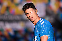Cristiano Ronaldo of Juventus <br /> during the Serie A football match between Udinese Calcio and Juventus FC at Friuli stadium in Udine <br />  (Italy), July 23th, 2020. Play resumes behind closed doors following the outbreak of the coronavirus disease. Photo Federico Tardito / Insidefoto