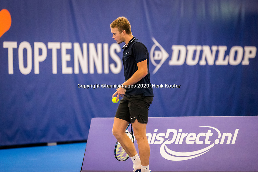 Amstelveen, Netherlands, 16  December, 2020, National Tennis Center, NTC, NK Indoor, National  Indoor Tennis Championships, :  Jelle Sels (NED) <br /> Photo: Henk Koster/tennisimages.com