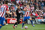 Andreas Pereira of Granada CF battles for the ball with Gabi of Atletico de Madrid  during their La Liga match between Atletico de Madrid and Granada CF at the Vicente Calderon Stadium on 15 October 2016 in Madrid, Spain. Photo by Diego Gonzalez Souto / Power Sport Images