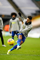 7th February 2021; Molineux Stadium, Wolverhampton, West Midlands, England; English Premier League Football, Wolverhampton Wanderers versus Leicester City; Ayoze Pérez of Leicester City shooting practice before the game
