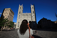 Montreal (Qc) CANADA - July 9,2012 File Photo -  MODEL RELEASED PHOTO of a twenty year old woman from Guadeloupe visiting the Old-Montreal