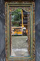 Jatiluwih, Bali, Indonesia.  Luhur Bhujangga Waisnawa Hindu Temple.  Door Frame around Entrance to inner Courtyard.