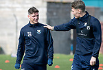 St Johnstone Training…29.03.19<br />Ross Callachan and Jason Kerr pictured during training this morning at McDiarmid Park ahead of tomorrow's trip to Motherwell.<br />Copyright Perthshire Picture Agency<br />Tel: 01738 623350  Mobile: 07990 594431