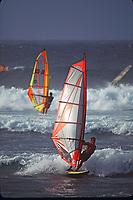 wind surfers, Maui, Hawaii, Pacific Ocean