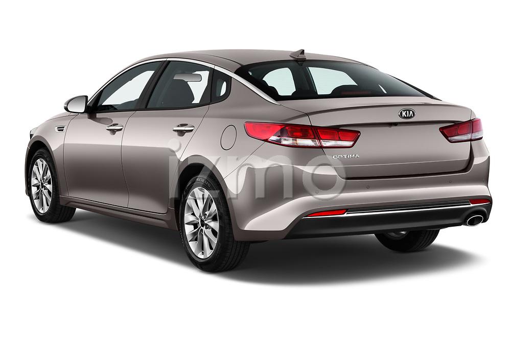 Car pictures of rear three quarter view of 2018 KIA Optima LX 4 Door Sedan Angular Rear
