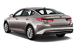 Car pictures of rear three quarter view of 2018 KIA Optima LX 4 Door Sedan Angular Rear