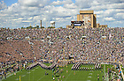 Sep 8, 2012; The Football team takes the field for the home opener against Purdue...Photo by Matt Cashore
