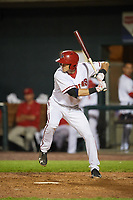 Harrisburg Senators center fielder Alec Keller (9) at bat during a game against the Bowie Baysox on May 16, 2017 at FNB Field in Harrisburg, Pennsylvania.  Bowie defeated Harrisburg 6-4.  (Mike Janes/Four Seam Images)