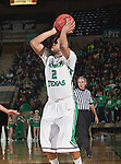 North Texas Mean Green guard Brandan Walton (2) in action during the game between the Louisiana Monroe Warhawks and the University of North Texas Mean Green at the North Texas Coliseum,the Super Pit, in Denton, Texas. UNT defeats ULM 86 to 51...