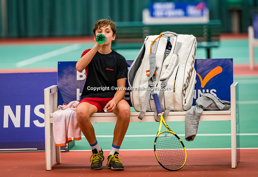 Wateringen, The Netherlands, December 1,  2019, De Rhijenhof , NOJK 12 and16 years, Final boys 12 years: Mees Röttgering (NED)<br /> Photo: www.tennisimages.com/Henk Koster