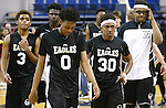 Word of Life players leave the court after losing the NIAA Division IV state basketball championship 53-48 to Whittell in Reno, Nev. on Saturday, Feb. 27, 2016. Cathleen Allison/Las Vegas Review-Journal