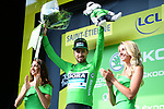 Peter Sagan (SVK) Bora-Hansgrohe retains the points Green Jersey at the end of Stage 8 of the 2019 Tour de France running 200km from Macon to Saint-Etienne, France. 13th July 2019.<br /> Picture: ASO/Pauline Ballet   Cyclefile<br /> All photos usage must carry mandatory copyright credit (© Cyclefile   ASO/Pauline Ballet)